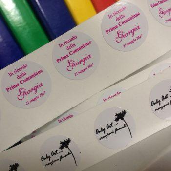 Stampa Digitale - etichette adesive vari formati anche bassi quantitativi