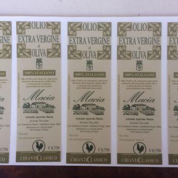 stampa digitale - etichette adesive per olio e vino ed alimenti stampate su pvc o carta